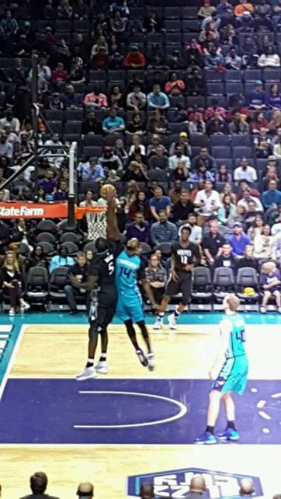 Spectrum Center, section: 106, row: R, seat: 9