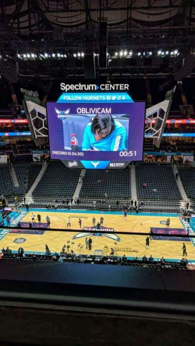 Spectrum Center, section: 208, row: A, seat: 15