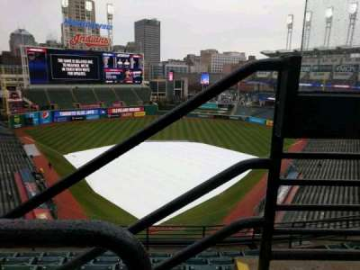 Progressive Field, section: 554, row: B, seat: 7