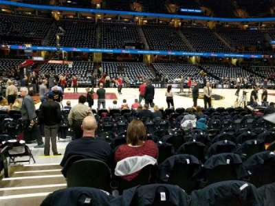 Quicken Loans Arena, section: 108, row: 8, seat: 1