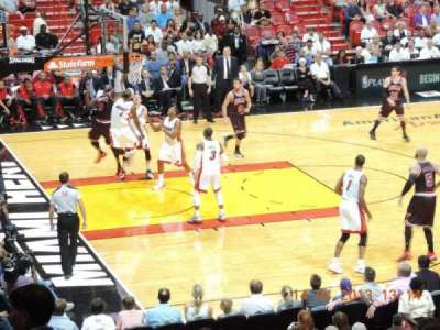 American Airlines Arena, section: 108, row: 20, seat: 18
