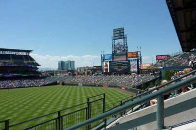 Coors Field, section: 206, row: 2, seat: 7