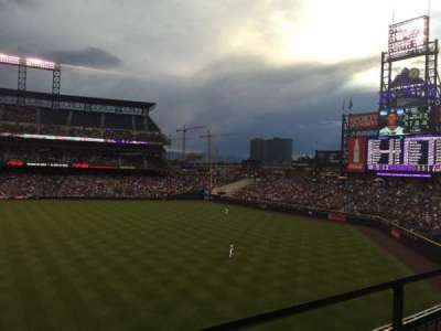 Coors Field, section: 205, row: 1, seat: 6