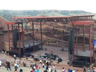Red Rocks Amphitheatre, row: 38, seat: 12