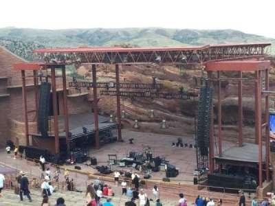 Red Rocks Amphitheatre, row: 38, seat: 12