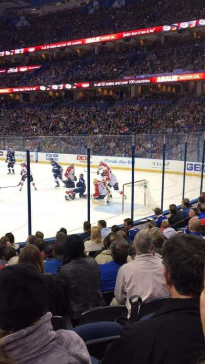 Amalie Arena, section: 126, row: L