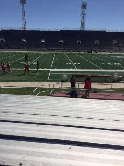 Ladd Peebles Stadium, section: H, row: 12, seat: 8