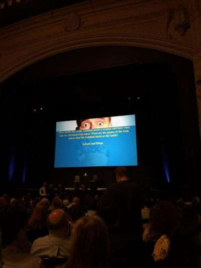 Orpheum Theatre (San Francisco), section: Orchestra R, row: R, seat: 126