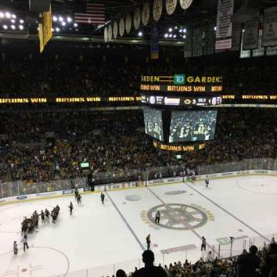 TD Garden, section: BAL318, row: 8, seat: 7