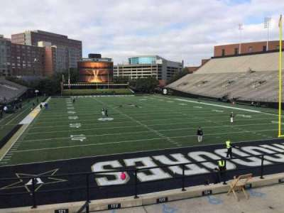 Vanderbilt Stadium, section: J, row: 8, seat: 1