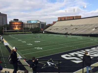 Vanderbilt Stadium, section: I, row: 5, seat: 5