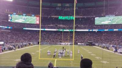 MetLife Stadium, section: 101, row: 18, seat: 10