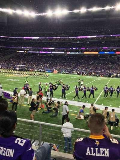 U.S. Bank Stadium, section: 129, row: 3, seat: 13