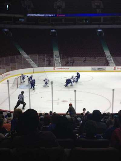 Rogers Arena, section: 108, row: 8, seat: 7