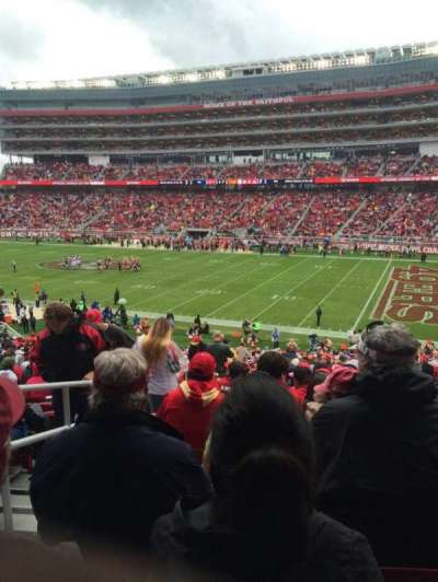 Levi's Stadium, section: 109, row: 36, seat: 22
