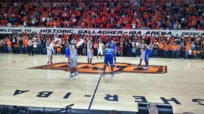 Gallagher-Iba Arena, section: 108, row: 1, seat: 7