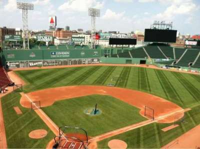 Fenway Park section press box