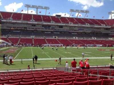 Raymond James Stadium, section: 132, row: N, seat: 19