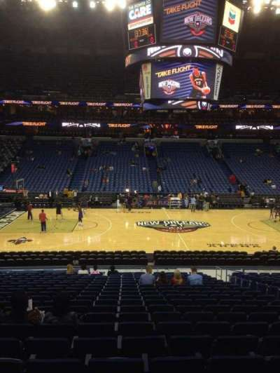Smoothie King Center, section: 101, row: 23, seat: 7