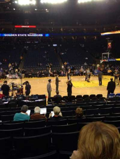 Oracle Arena, section: 128, row: 5, seat: 9
