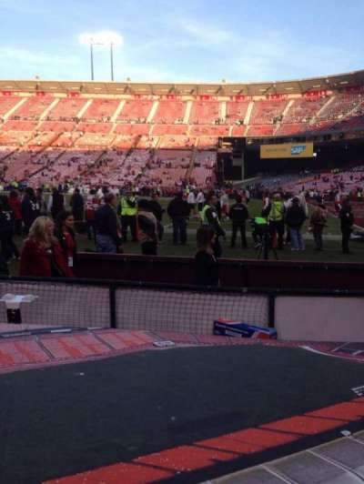 Candlestick Park, section: Lb 10, row: A, seat: 9