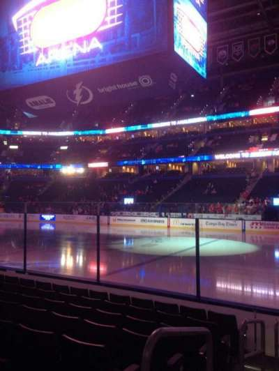 Amalie Arena, section: 114, row: H, seat: 15