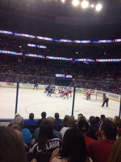 Amalie Arena section 114