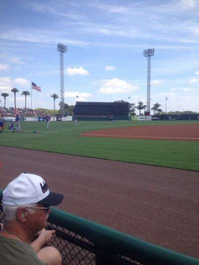Joker Marchant Stadium, section: 111, row: Ee, seat: 5