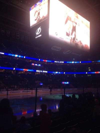 Amalie Arena, section: 118, row: G, seat: 14