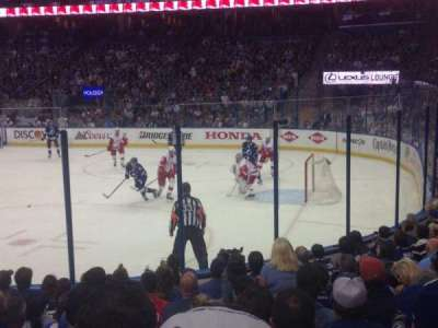 Amalie Arena, section: 112, row: L, seat: 9