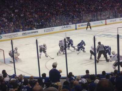 Amalie Arena, section: 104, row: R