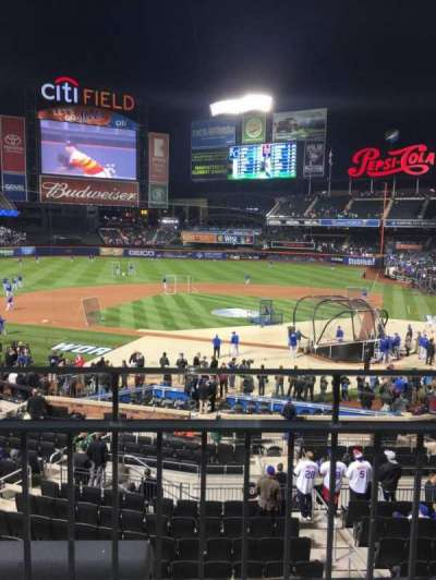 Citi Field, section: 119, row: 1-wc, seat: 5