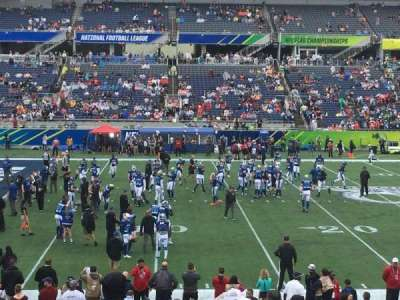 Camping World Stadium, section: 111, row: U, seat: 1