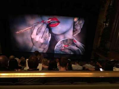 Nederlander Theatre, section: Mezzanine, row: G, seat: 105