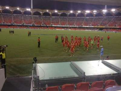 Carrara Stadium, section: L 135, row: 5, seat: 14