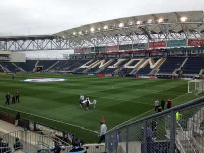 Talen Energy Stadium, section: 101, row: N, seat: 3