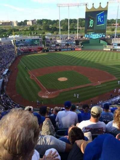 Kauffman Stadium, section: 423, row: S