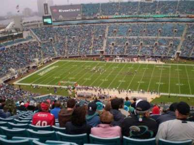 EverBank Field, section: 434, row: AA, seat: 17