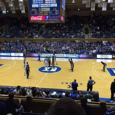 Cameron Indoor Stadium, section: 7, row: F, seat: 5