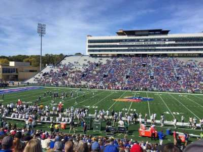 David Booth Kansas Memorial Stadium section 21