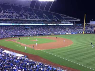 Kauffman Stadium, section: 322, row: A, seat: 13