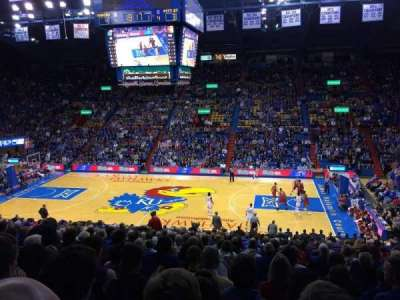 Allen Fieldhouse, section: 16, row: 18, seat: 10