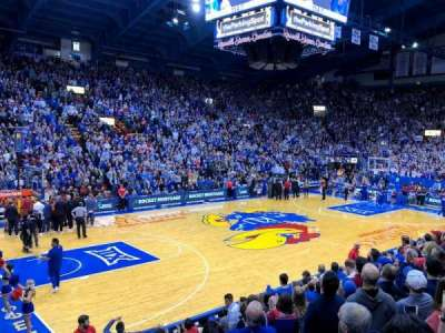 Allen Fieldhouse, section: J, row: 11, seat: 7