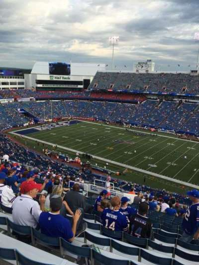 New Era Field, section: 308, row: 27, seat: 22