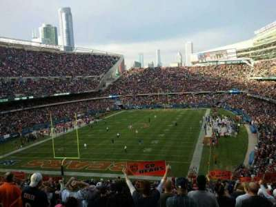 Soldier Field, section: 220, row: 1, seat: 3