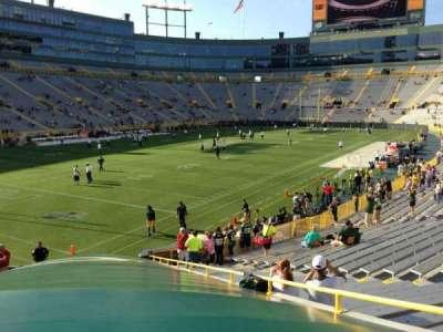 Lambeau Field, section: 131, row: 21, seat: 14