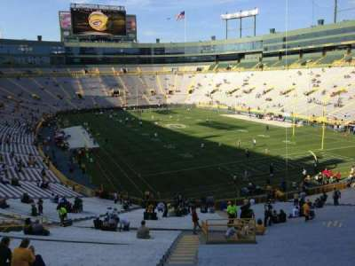 Lambeau Field, section: 134, row: 47, seat: 1