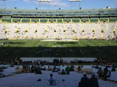 Lambeau Field, section: 120, row: 58, seat: 16