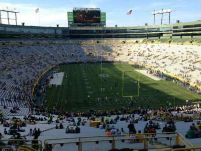 Lambeau Field, section: 352, row: 9, seat: 5