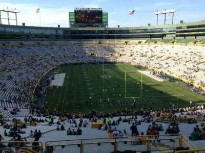 Lambeau Field, section: 352, row: 9, seat: 5